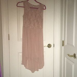 Nude High-Low dress